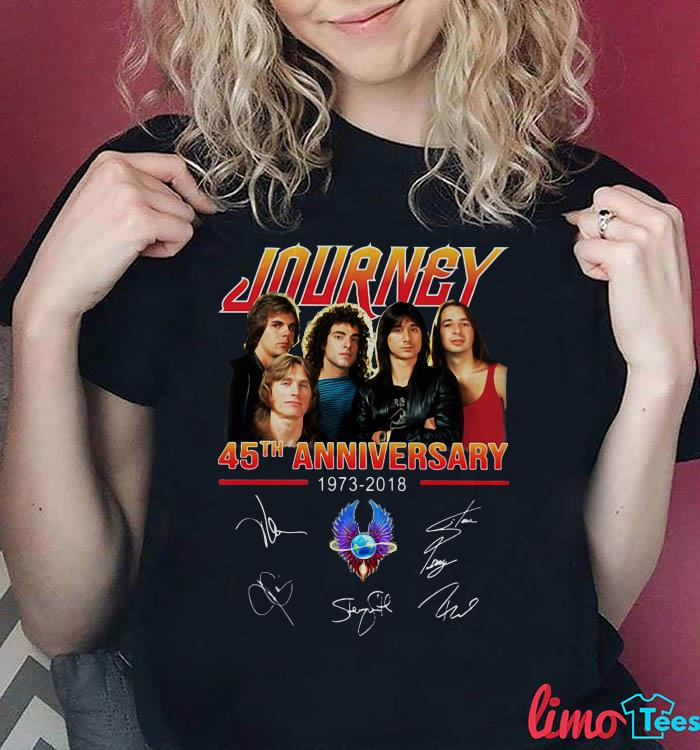Journey 45th anniversary 1973-2018 all signiture shirt