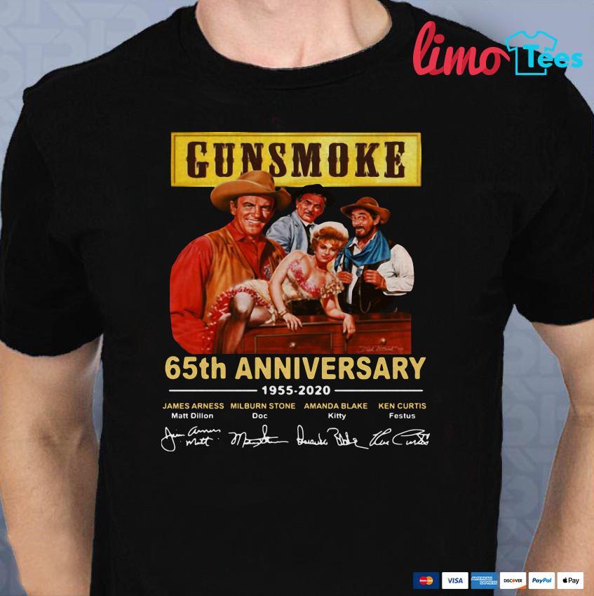 Gun-Smoke 65th anniversary 1955-2020 all character signature shirt
