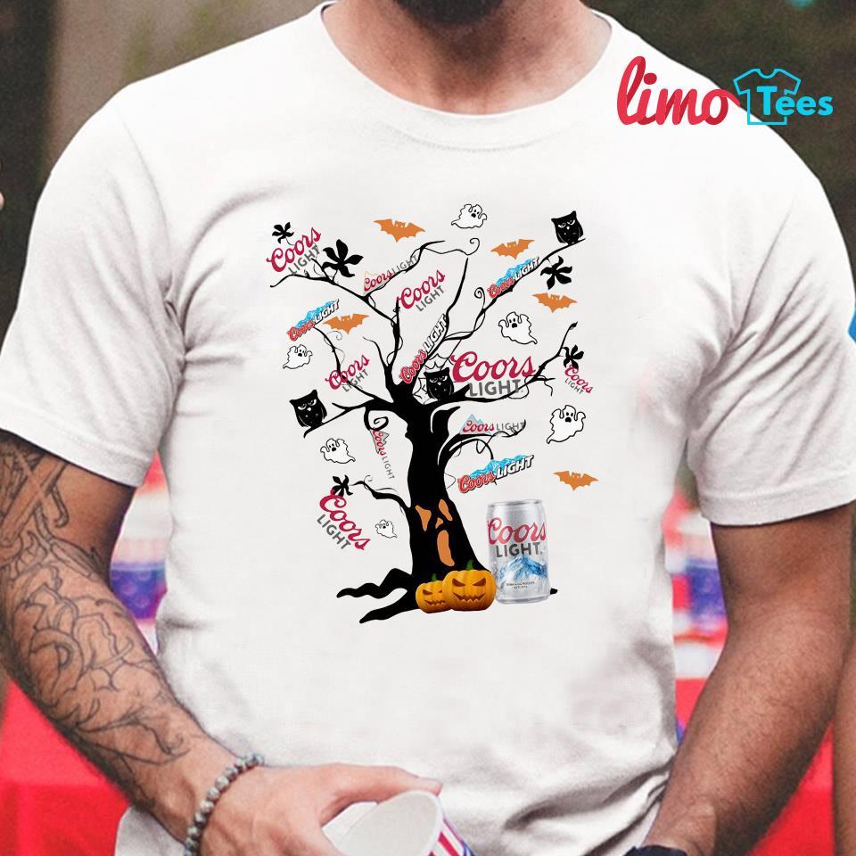 Coors Light Halloween tree shirt