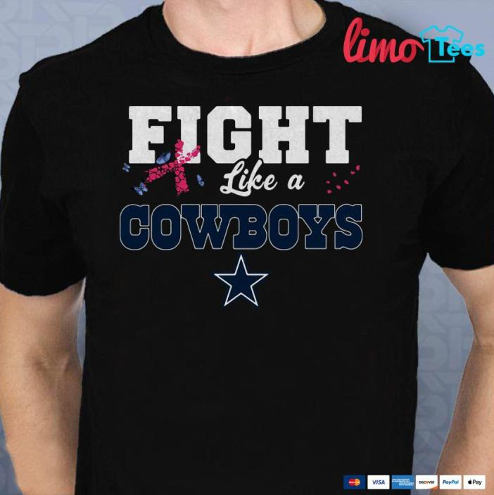 release date: a7120 7d5c9 Fight like a Cowboys breast cancer shirt, ladies shirt ...