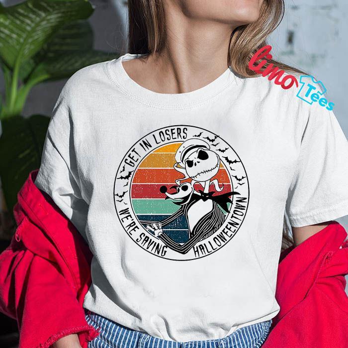 Retro vintage get in losers we're saving halloweentown Jack Skellington shirt