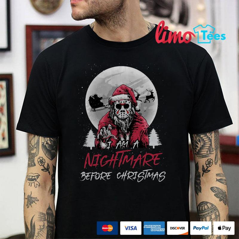 Santa Jason Vorhees I ams  nightmare before christmas shirt