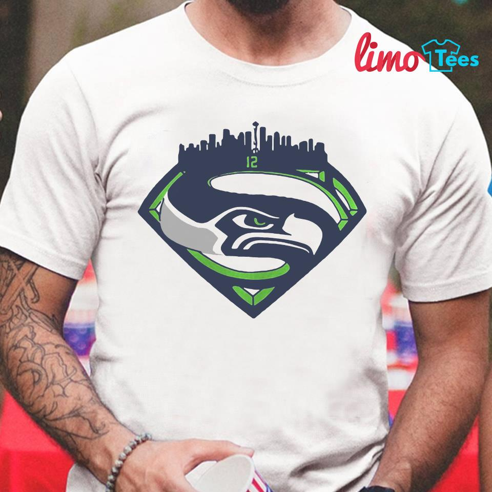 Seattle Seahawks Superman 12 t-shirt