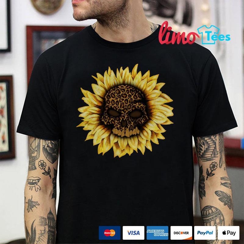 Sunflower sugar skull Jaguar shirt