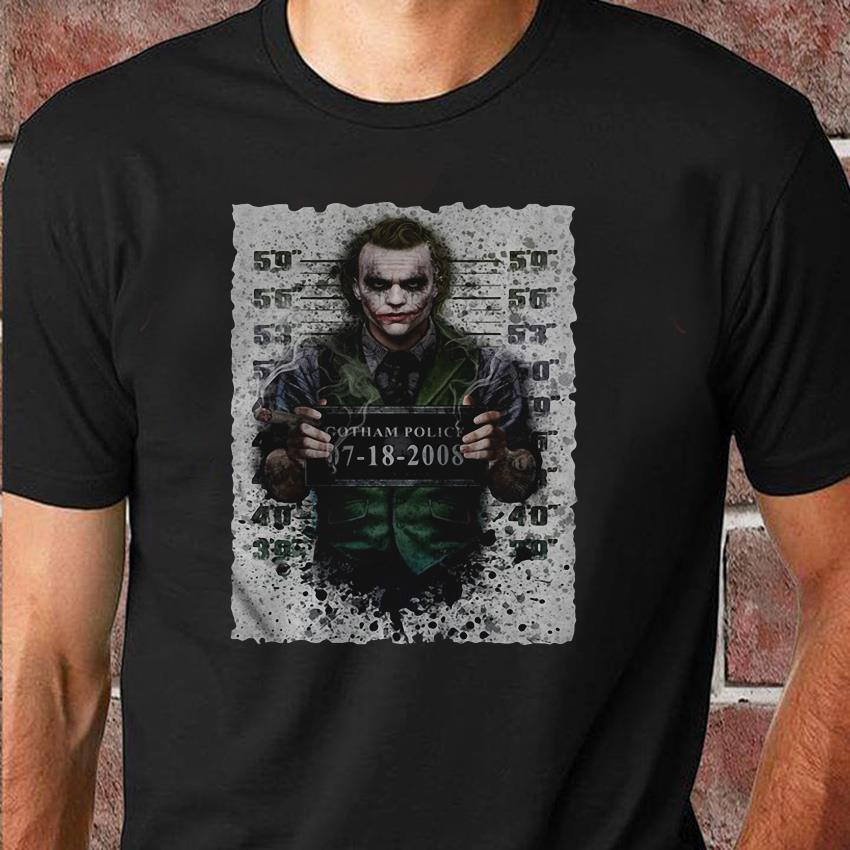 Joker Gotham police 07 18 2008 Halloween shirt