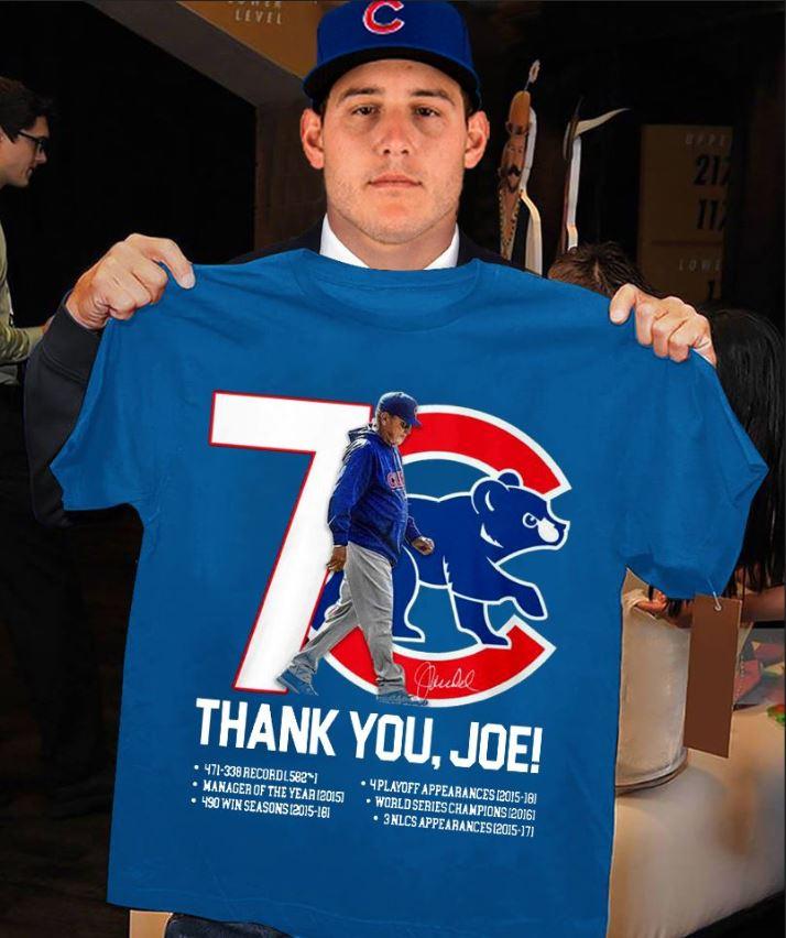 Chicago Cubs thank you Joe Maddon Rumors shirt