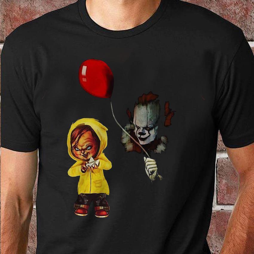 Chucky Pennywise dancing clown halloween unisex shirt