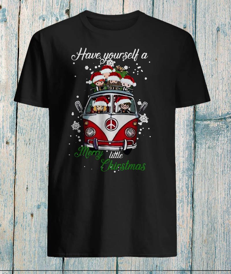 Hippie Harry Potter have yourself a merry little christmas t-shirt