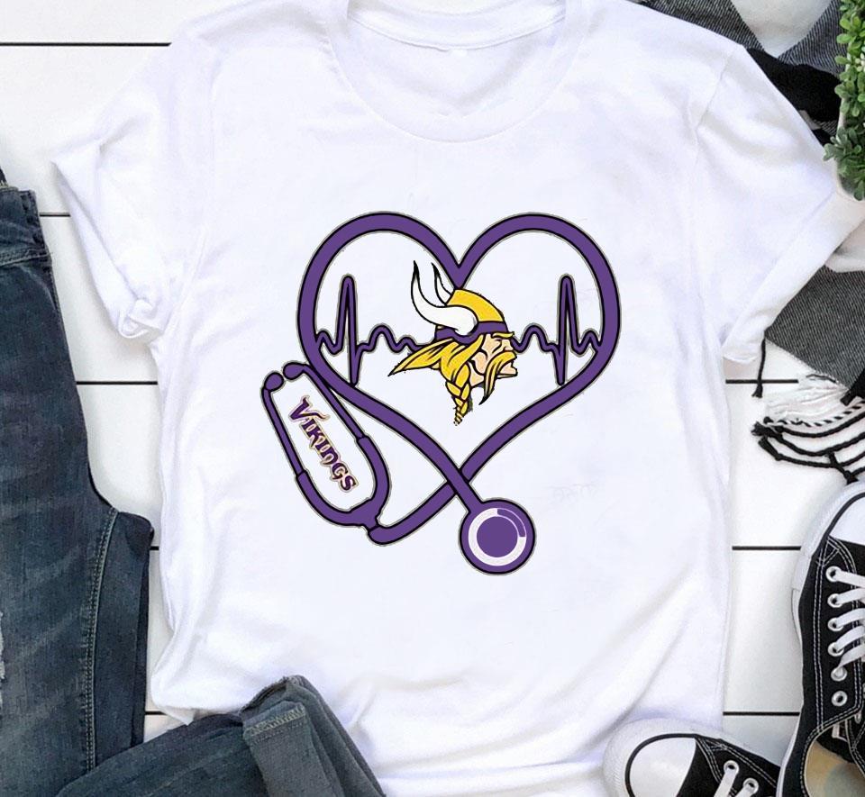 Minnesota Vikings nurse heartbeat shirt