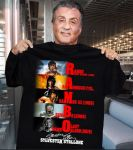 Rambo movies Sylvester Stallone signature t-shirt