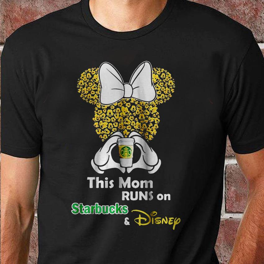 This mom runs on Starbucks and Disney minnie shirt
