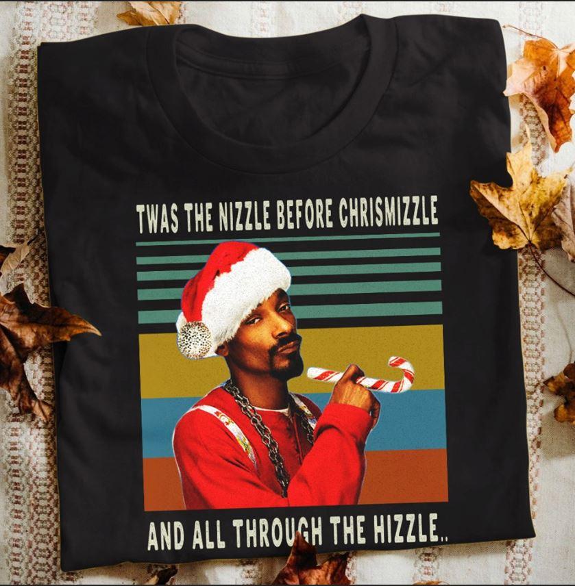 Vintage Snoop Dogg Santa twas the nizzle before christmizzle t-shirt