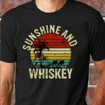 Vintage Sunshine and Whiskey summer time unisex shirt