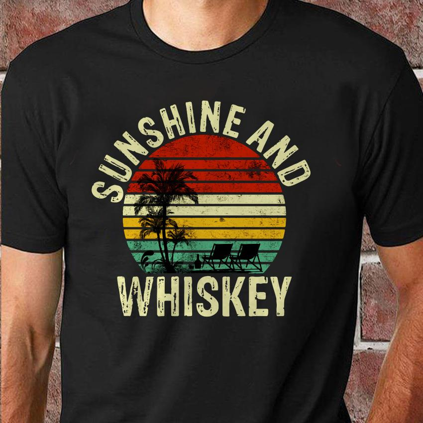Vintage Sunshine and Whiskey summer time shirt
