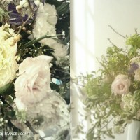 Buisson de printemps - un BOUQUET SHABBY CHIC  (Spring bush - a shabby chic floral arrangement)