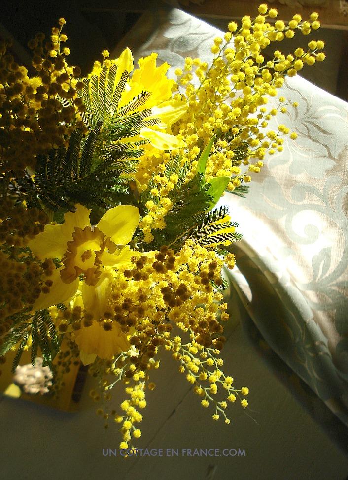 Bouquet fleurs jaunes