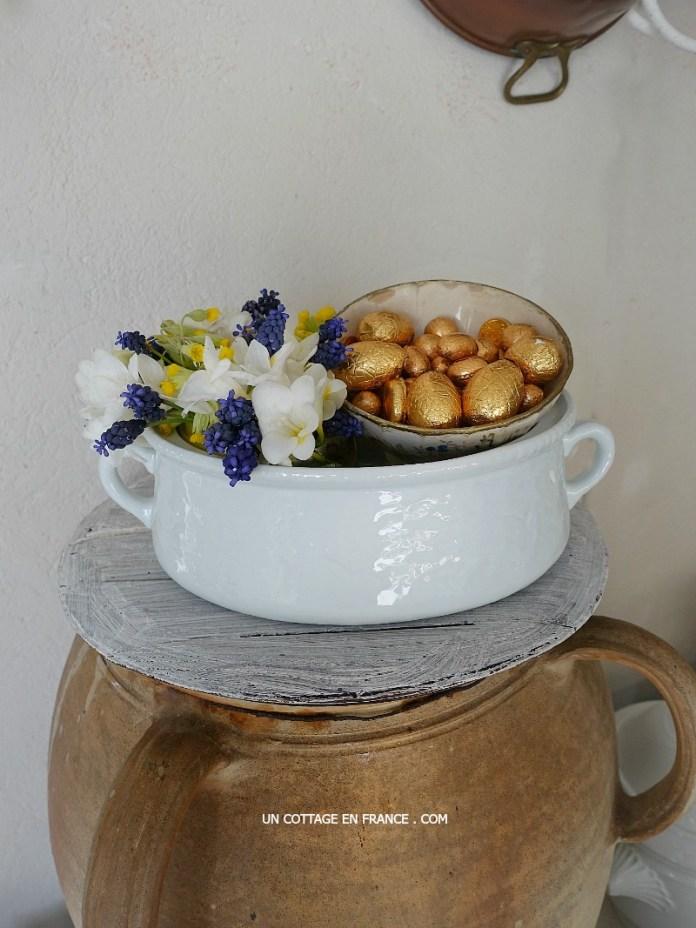Bouquet de muscaris et freesias (Freesias and muscaris bouquet)