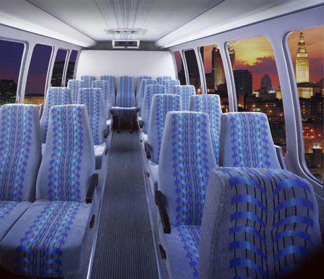 Intérieur de limo-bus