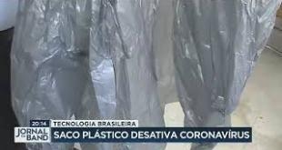 Saco plástico desativa coronavírus