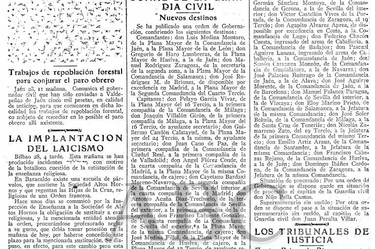 """<span class=""""entry-title-primary"""">Falange tenía 11.000 afiliados en Jaén en 1936</span> <span class=""""entry-subtitle"""">Así lo afirma Francisco Rodríguez Acosta, jefe de Falange en Jaén en 1936, y añade que la sublevación habría triunfado de no haber sido él desterrado</span>"""