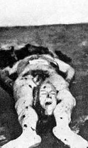 Cadáver del general López Ochoa.