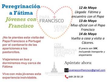 Peregrinación sacrílega del Yunque (Jóvenes con Francisco) con ocasión del centenario de Fátima.