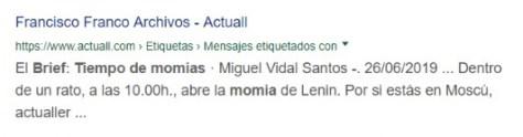 Google considera a Miguel Vidal autor del Brief de Actuall.