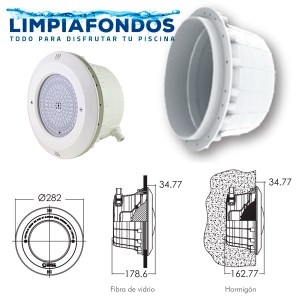 Led Embutido Emaux NP300 MColor 16W - Cont Rem