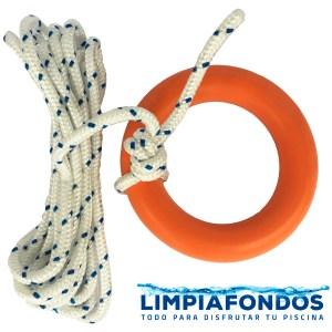 Cuerda de Rescate 10 mm con Aro 5 y 10 mts