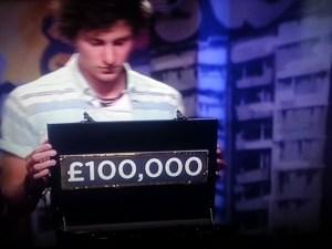 Sam with his chosen amount