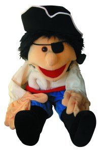 300P033 - pirate puppet sitting clipped