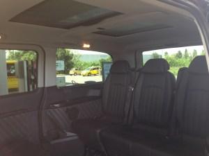 Mini Bus indoors