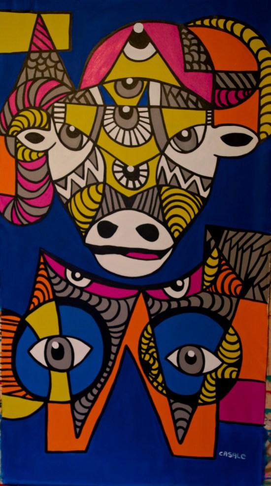 "Juntos Infinitos, 2014 (35"" x 65"")"
