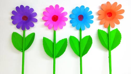 How To Make Daisy Flower With Paper Making Flower Step By Step