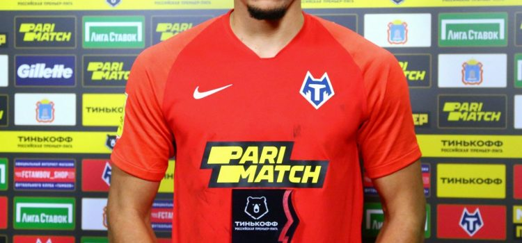 Nigerian and FC Tambov Player, German Onugkha voted for Man of the Match In Russian League Game.