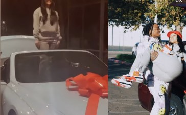 Quavo gifts his girlfriend, Saweetie a Bentley for Christmas.