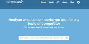 Buzzsumo Keyword Search volume tool