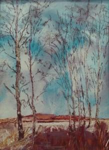 Silver Birch - dry pastel