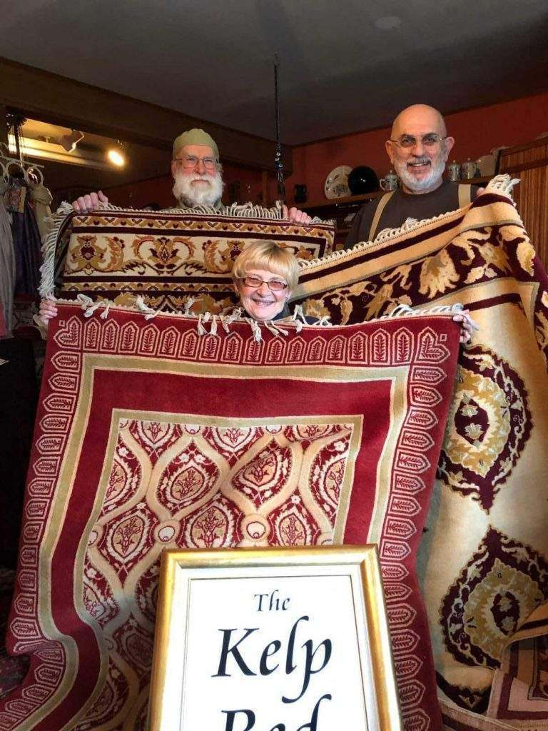 Rugs donated by The Kelp Bed for the 2018 Culture, Of Course! Raffle