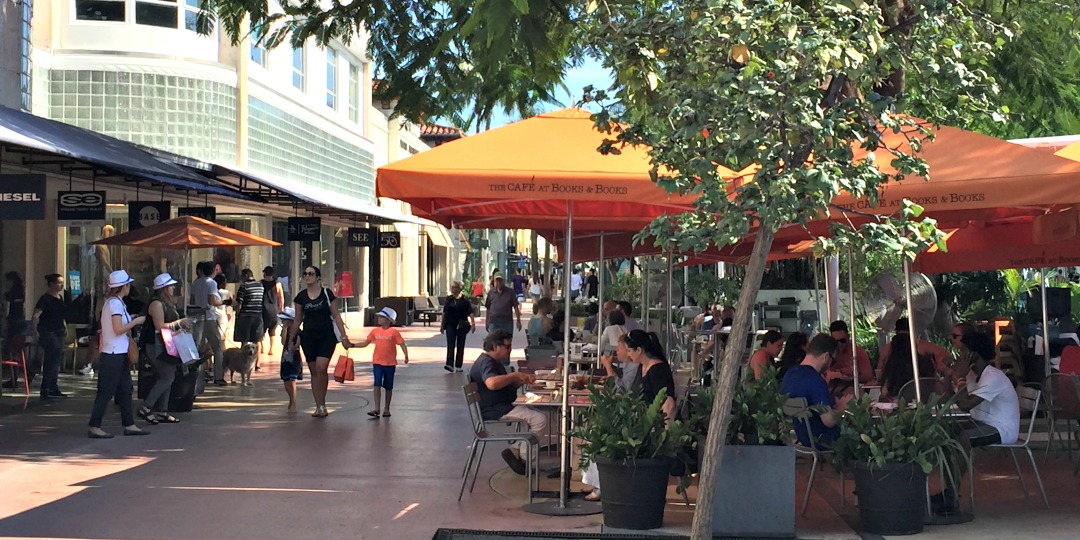 Cafe at Books & Books on Lincoln Road is always perfect for lunch, dinner or people-watching!