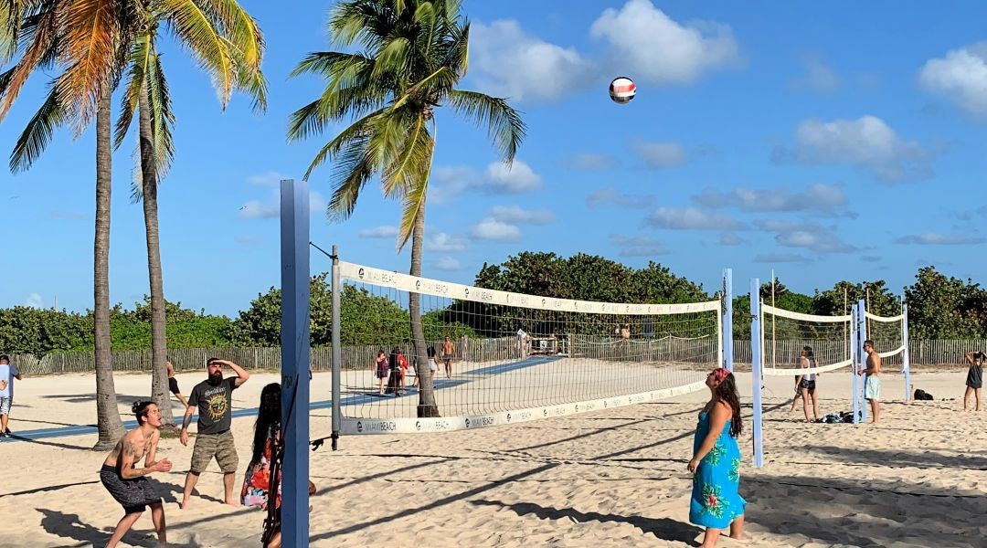 VolleyBall Courts on Ocean Drive