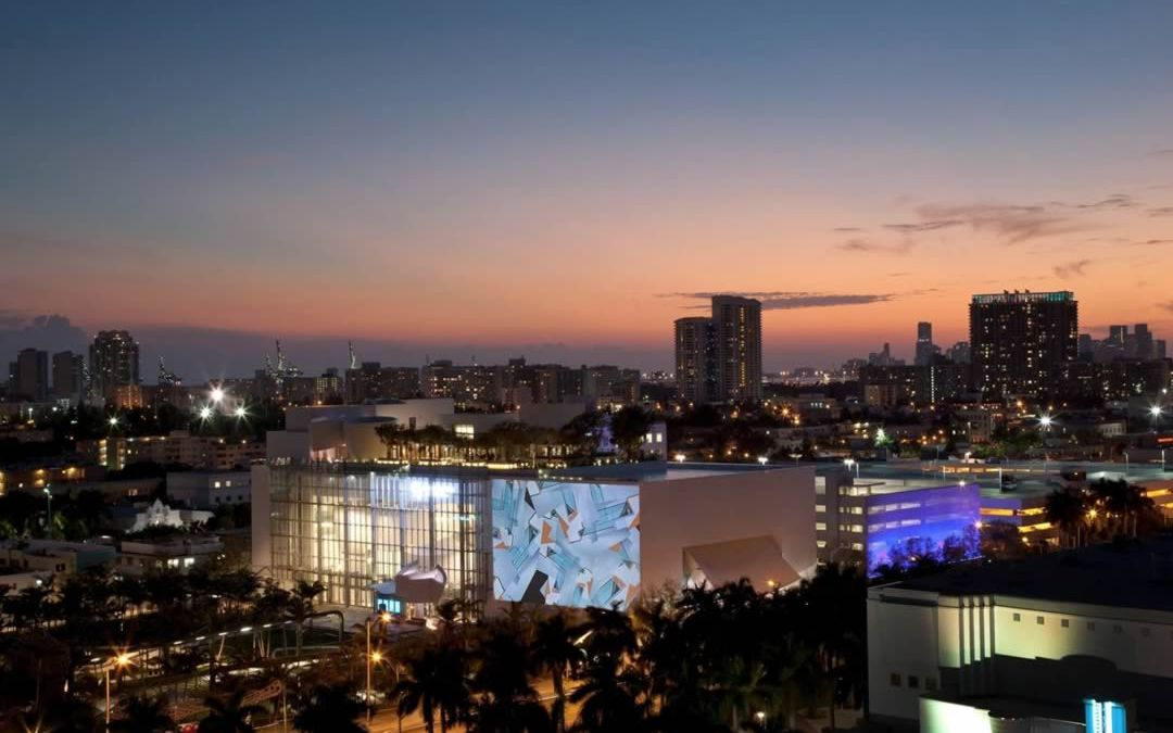 Watch free movies at the Miami Beach SoundScape just off Lincoln Road