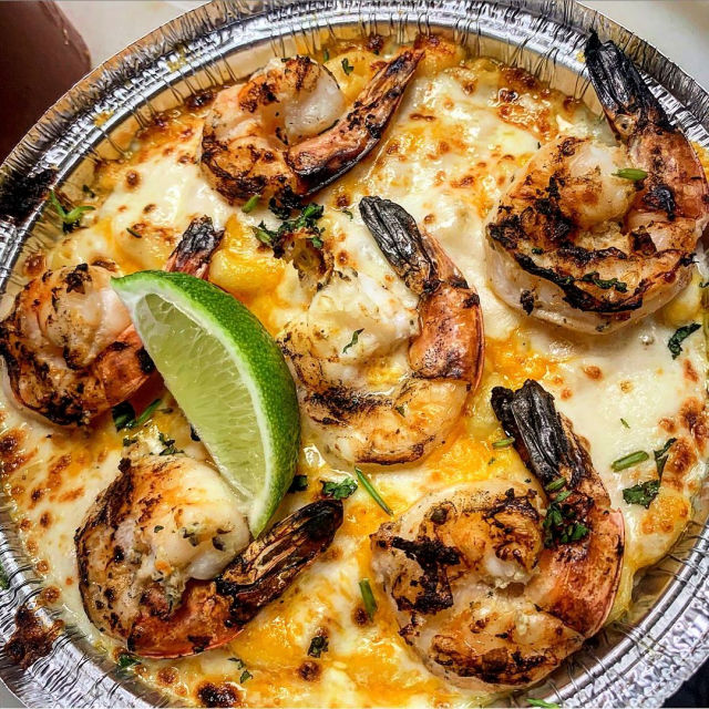 grilled shrimp Mac and cheese