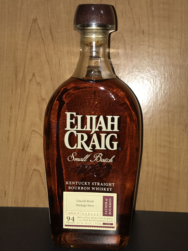 Elijah Craig Single Barrel 8 yr.