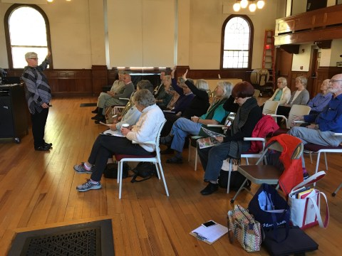 Outreach session at the Council on Aging