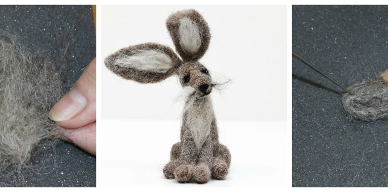 needle felting demonstration