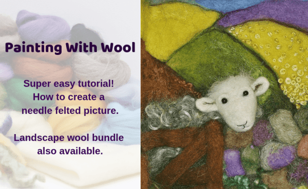 twitter painting with wool