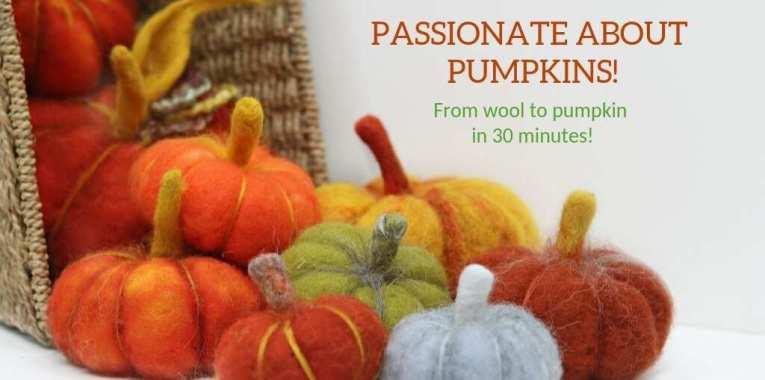 Felted Pumpkin Pin Pumpkin Felted Pumpkin Felted Jewelry Felted Brooch