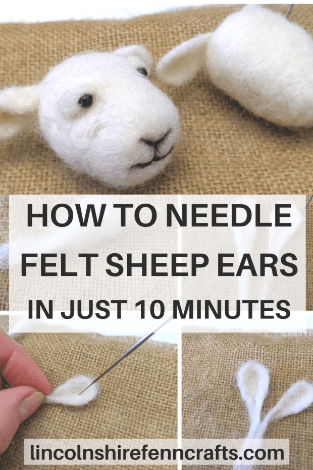 Working small can be a bit of a faff when it comes to needle felting, and I get asked – a lot – about sheep ears. I suppose we could primp and preen for half an hour and go the long way round but why bothers when we can do it in ten minutes instead! Yep, in ten minutes you will have a lovely set of ears to plonk on your needle felted sheep or animal. Enjoy! via @lincolnshirefen