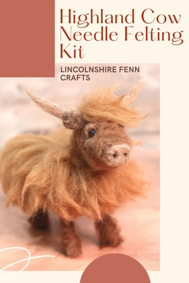 Learn to needle felt a Highland Cow Heather The Highland Cow Needle Felting Kit is now available on the website. Over 3,500 words, 90 full colour photographs, lots of different needle felting techniques and a whole load of Highland, what's not to love? via @lincolnshirefen